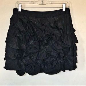 MM Couture Black Layered Ruffled Mini • D026